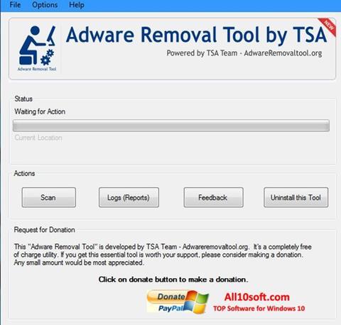 Screenshot Adware Removal Tool für Windows 10