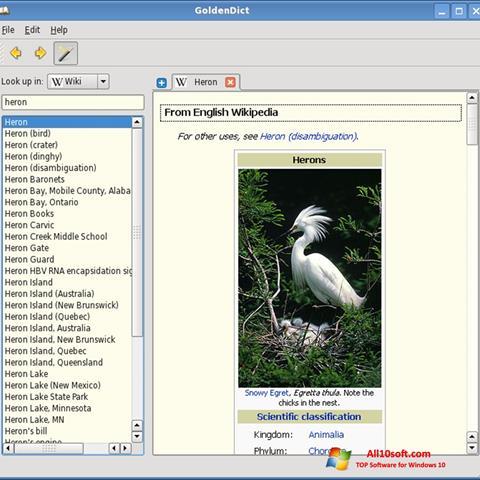 Screenshot GoldenDict für Windows 10