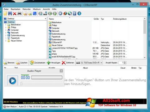 Screenshot CDBurnerXP für Windows 10