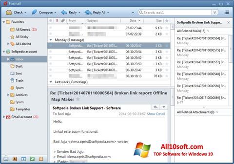 Screenshot FoxMail für Windows 10