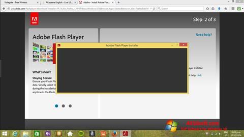 Screenshot Adobe Flash Player für Windows 10