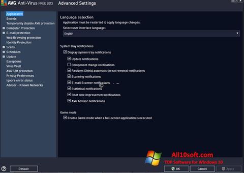 Screenshot AVG für Windows 10