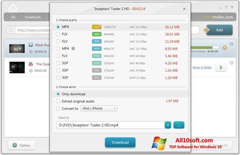 Screenshot Freemake Video Downloader für Windows 10