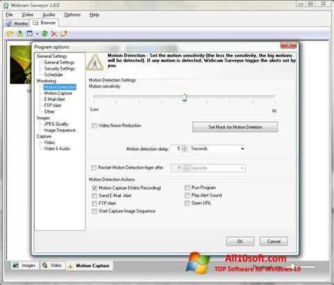 Screenshot Webcam Surveyor für Windows 10