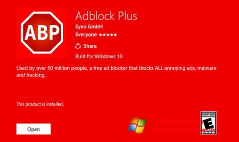 Screenshot Adblock Plus für Windows 10
