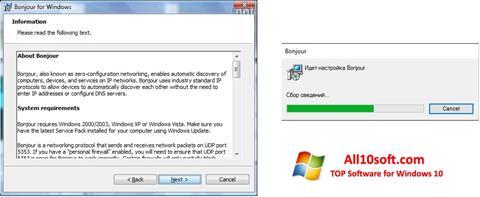 Screenshot Bonjour für Windows 10