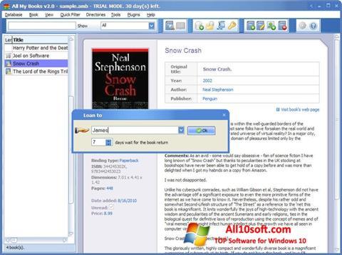 Screenshot All My Books für Windows 10