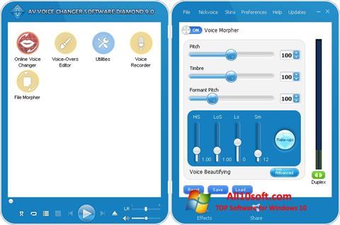 Screenshot AV Voice Changer Diamond für Windows 10