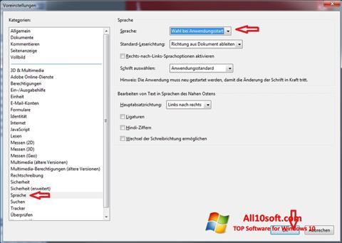 Screenshot Adobe Reader für Windows 10