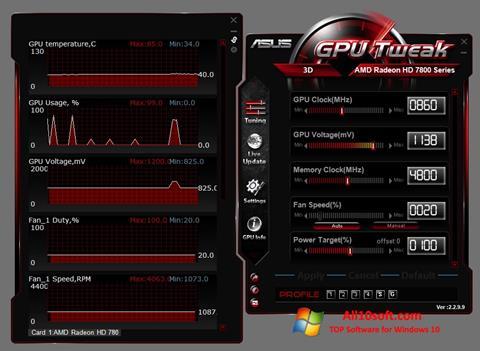 Screenshot ASUS GPU Tweak für Windows 10