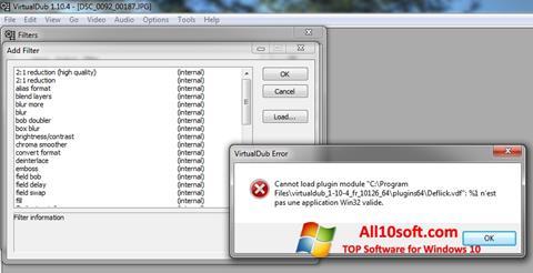 Screenshot VirtualDub für Windows 10