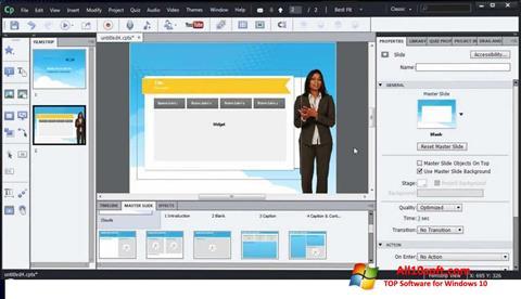 Screenshot Adobe Captivate für Windows 10