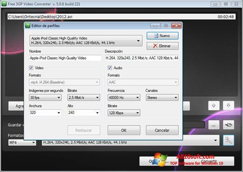 Screenshot Free MP4 Video Converter für Windows 10
