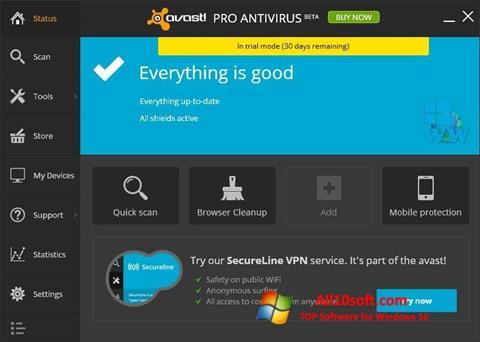 Screenshot Avast! Pro Antivirus für Windows 10