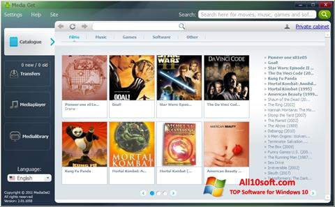 Screenshot MediaGet für Windows 10