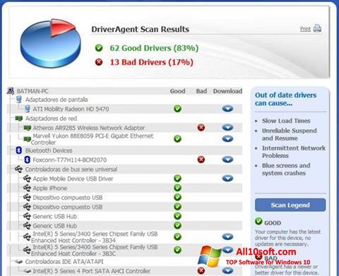 Screenshot DriverAgent für Windows 10