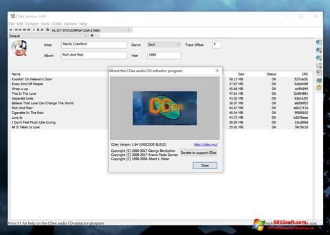 Screenshot CDex für Windows 10