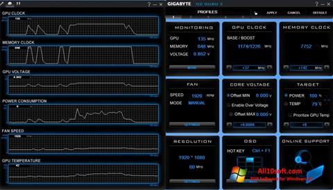 Screenshot GIGABYTE OC Guru für Windows 10